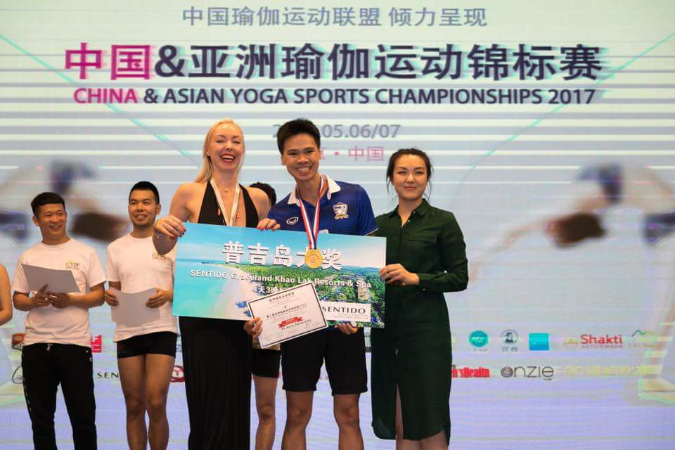 Champion of Asian Yoga Sports Championship 2017