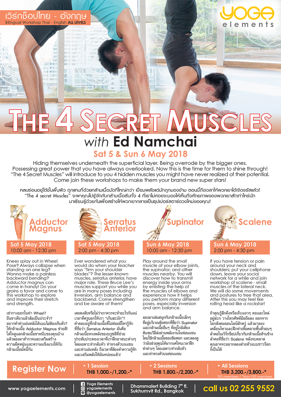 The 4 Secret Muscles with Ed Namchai