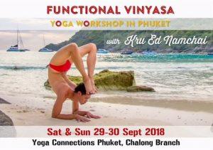 Functional Vinyasa with Ed Namchai at Yoga Connections Phuket 29 - 30 Sep 2018