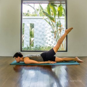 One-Legged Locust Pose